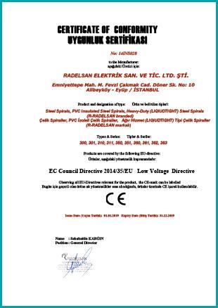 Radelsan CE Sertifika